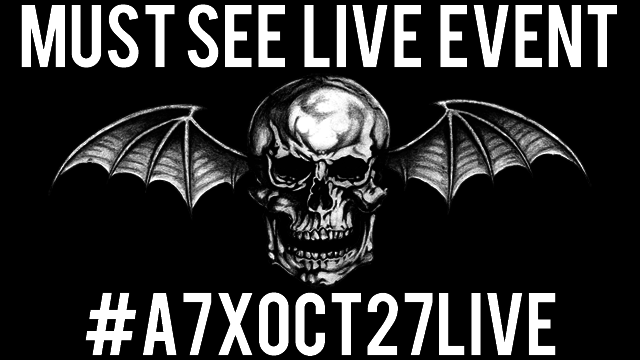 Avenged Sevenfold Live Streaming Must See Event On Oct 27th.
